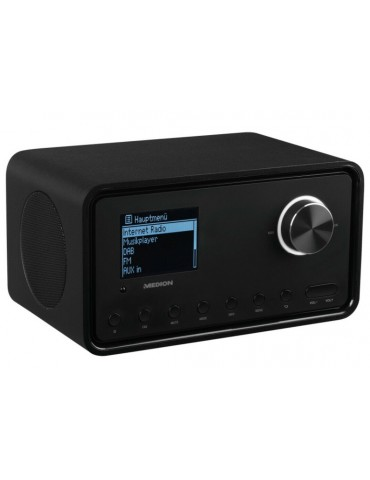 Internetinis radijas MD87805. Bluetooth + USB + FM + DAB, rudas