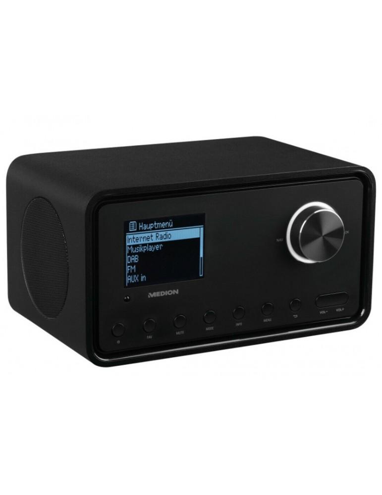 Internetinis radijas MD87805. Bluetooth + USB + FM + DAB, rudas