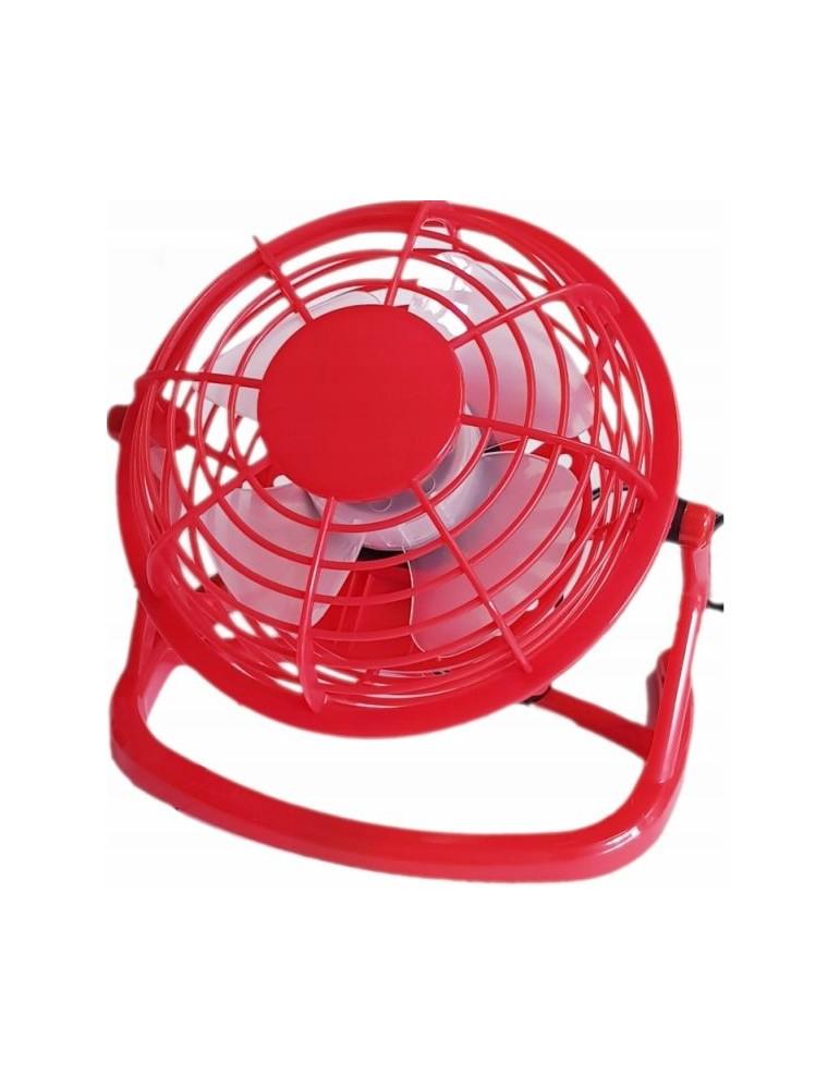 Stalo ventiliatorius su USB raudonas