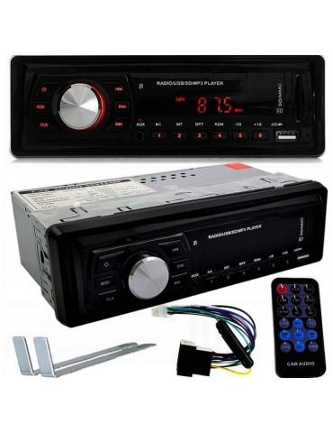 Automobilinė magnetola su FM, MP3, USB, AUX