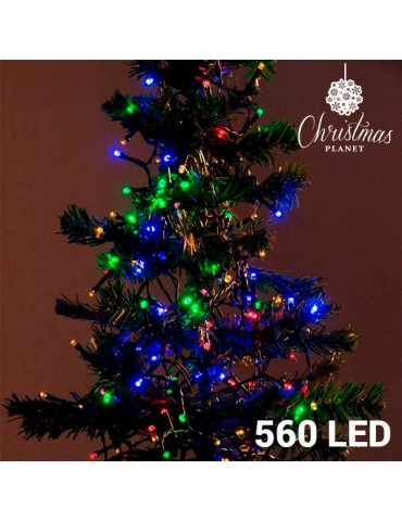 Girlianda spalvota, 560 LED lempučių