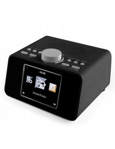 Interneto radijas su laikrodžiu, WLAN, UAB, AUX, juodas