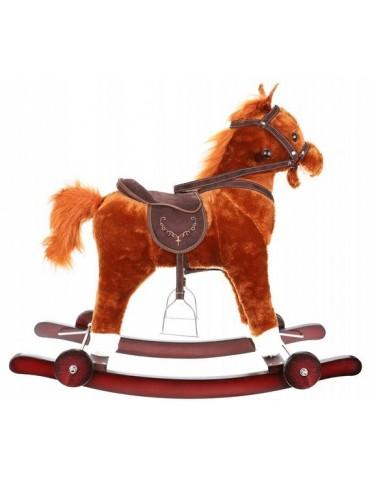 Supamasis žirgas su ratukais, rudas