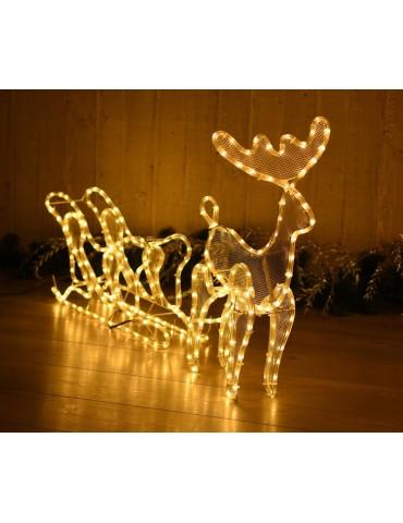 Kalėdinis elnias su rogėmis. 432 LED