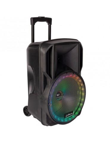 ĮKRAUNAMA GARSO SISTEMA PARTY-12RGB SU RGB LED ŠVIESOS EFEKTU IR BELAIDŽIU MIKROFONU