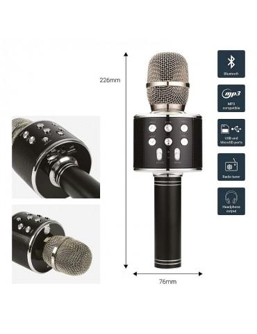 Įkraunamas Karaoke mikrofonas KPM5-BK juodas