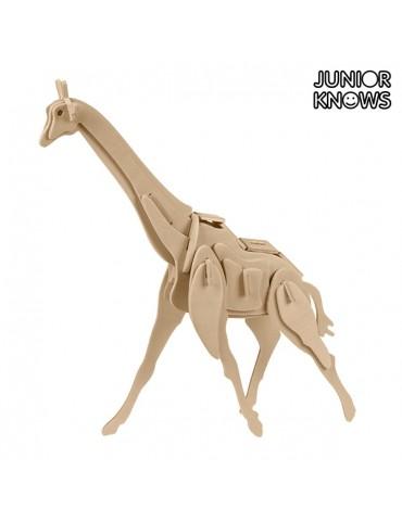 3D medinė dėlionė. Laukiniai gyvūnai. Junior Knows
