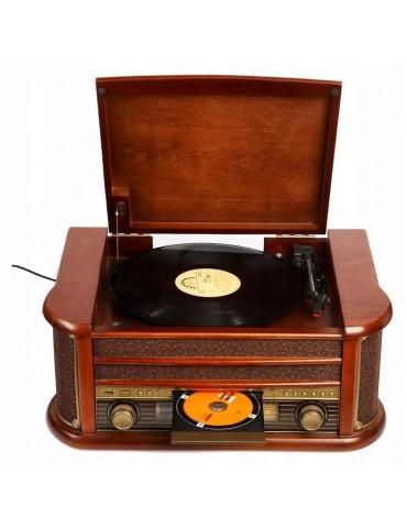 CAMRY CR 1111patefonas su FM CD / MP3 / USB / REC CR, FM radiju
