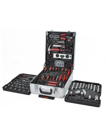 Įrankių komplektas su 4 dalių aliuminio dėžėje