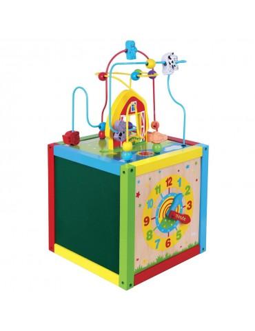 Žaislinis medinis kubas Viga 58506 5-in-1