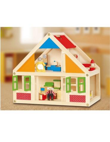 Lėlių namelis medinis. Viga 56254A