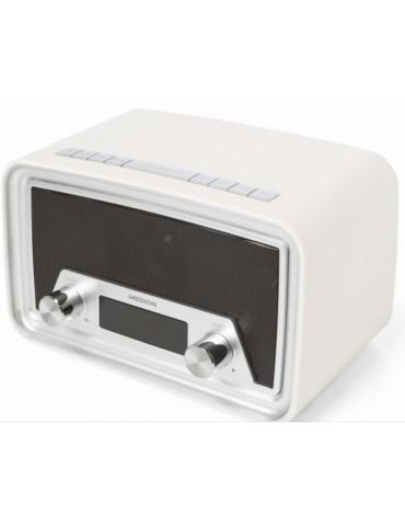 Retro radijo grotuvas Medion MD80035, baltas