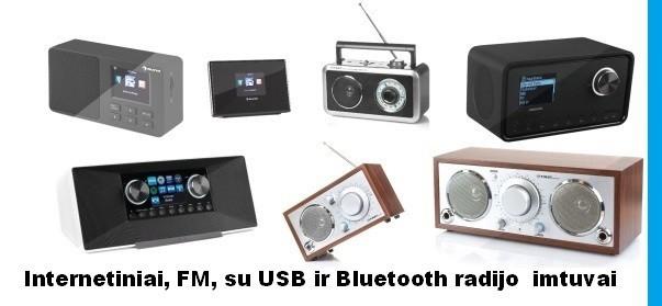 Internetiniai. FM radijo imtuvai